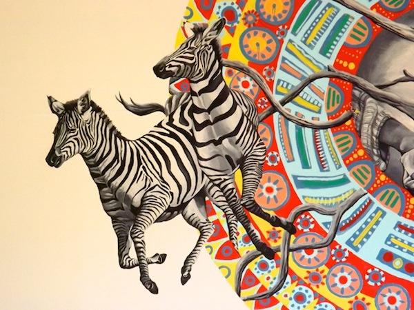 Kenya Zebras Mural