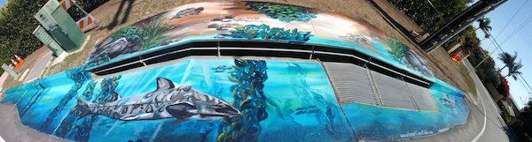 Malibu Shark Mural