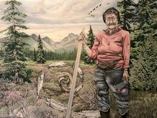 "The Making of ""Tundra Woman"" (Yup'ik Eskimo Elder Sophie Sakar Berry Picking on theTundra)"